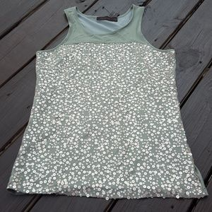 NWT The limited green gold sequins sleeveless tank